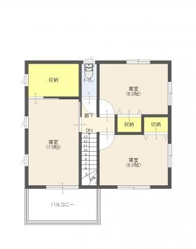 喜多川C号地2平面2階