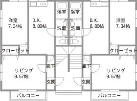 青江ビバレッジパート2間取
