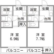 吉原ハイツパート2間取