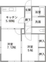 千代田ハイツ2間取