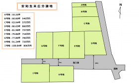 安知生末広分譲地区画図