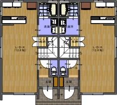 MOMOハウスⅡ平面1階