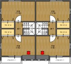 MOMOハウスⅡ平面2階