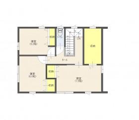 三芳土地平面2階